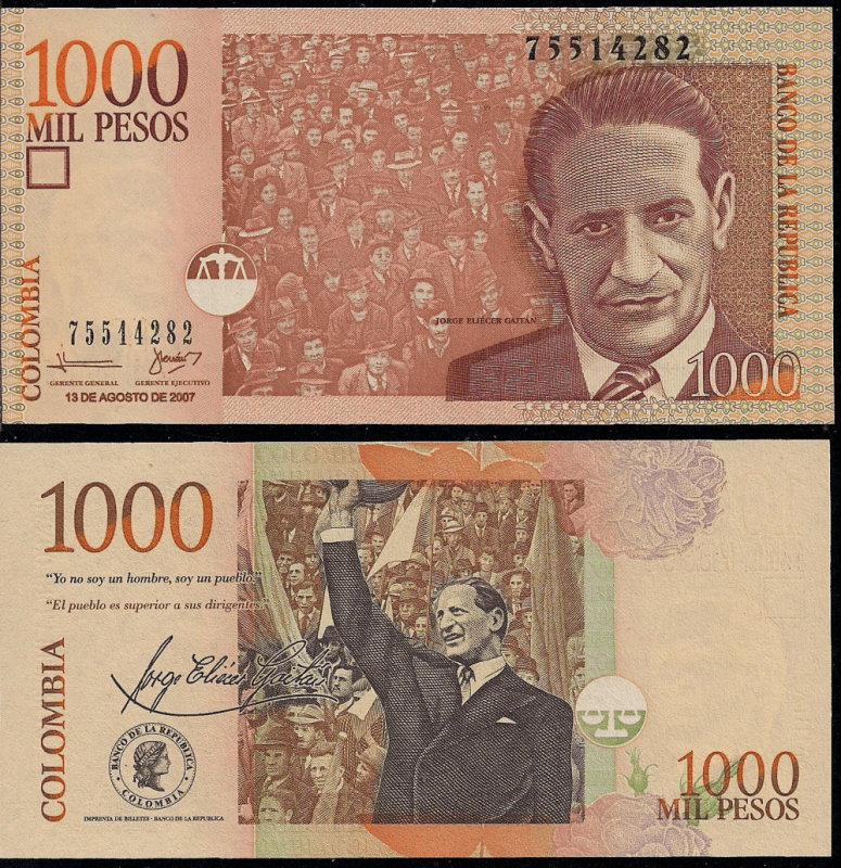 1,000 Pesos Colombia's Banknote