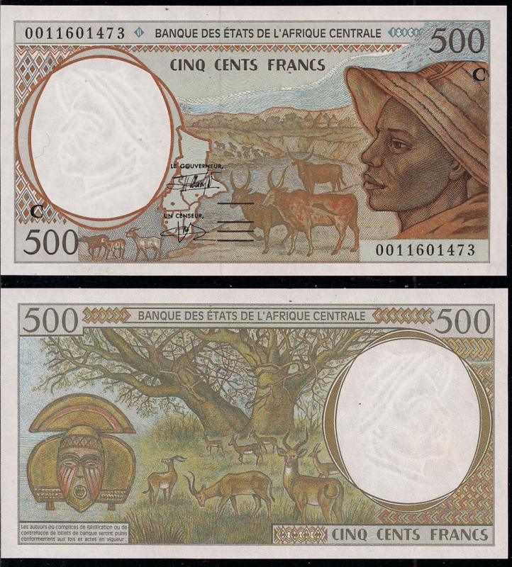 500 Francs Central African States's Banknote