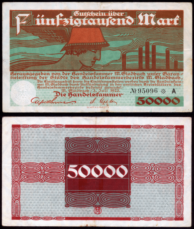 Germany/Notgeld 50,000 Mark Banknote, 1923, P-UNLISTED