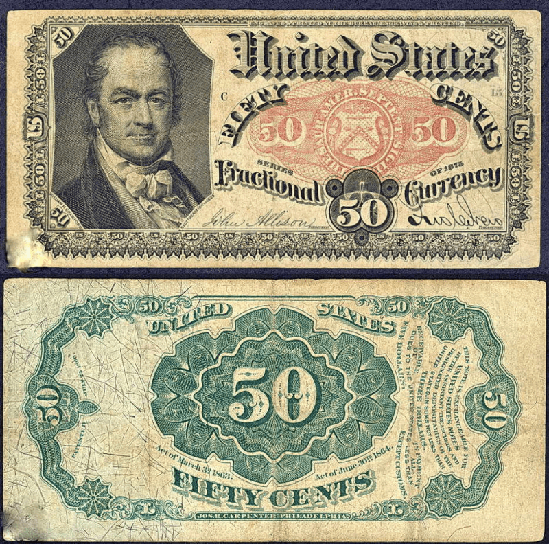 United States 50 Cents Banknote, 1864, P-124