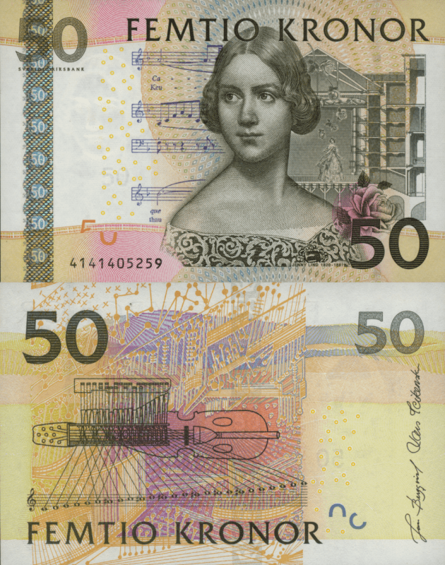 Sweden 50 Kronor Banknote, 2004, P-64a