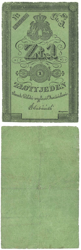 Poland 1 Zloty Banknote, 1831, P-A22