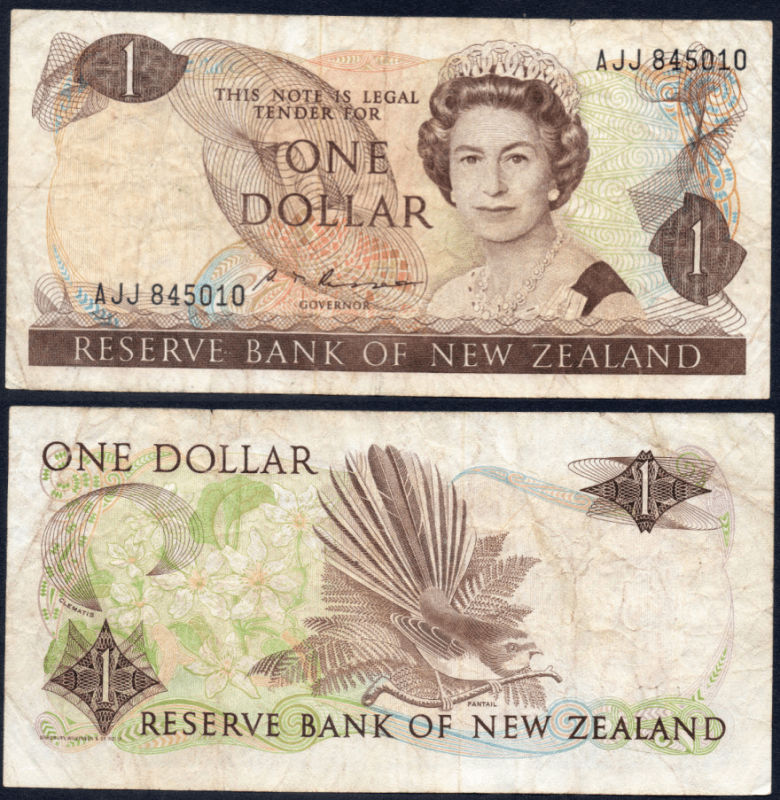 New Zealand 1 Dollar Banknote, 1985, P-169b