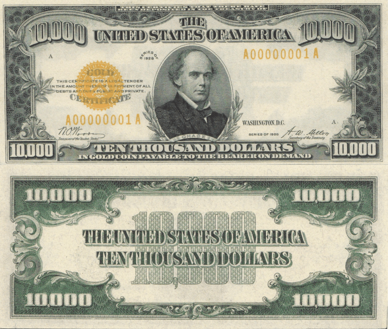 United States 10,000 Dollars Banknote, 1928, P-407