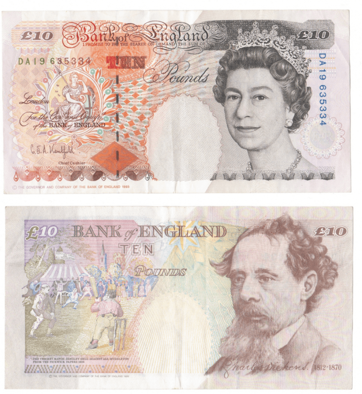 Great Britain/England 10 Pounds Banknote, 1993, P-383b