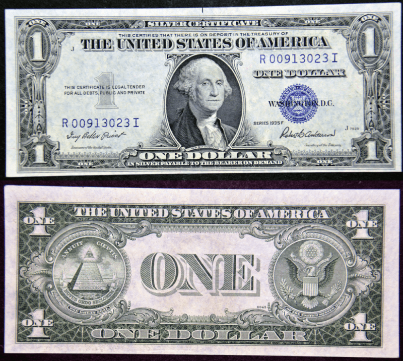 United States 1 Dollar Banknote, 1935, P-416D2f