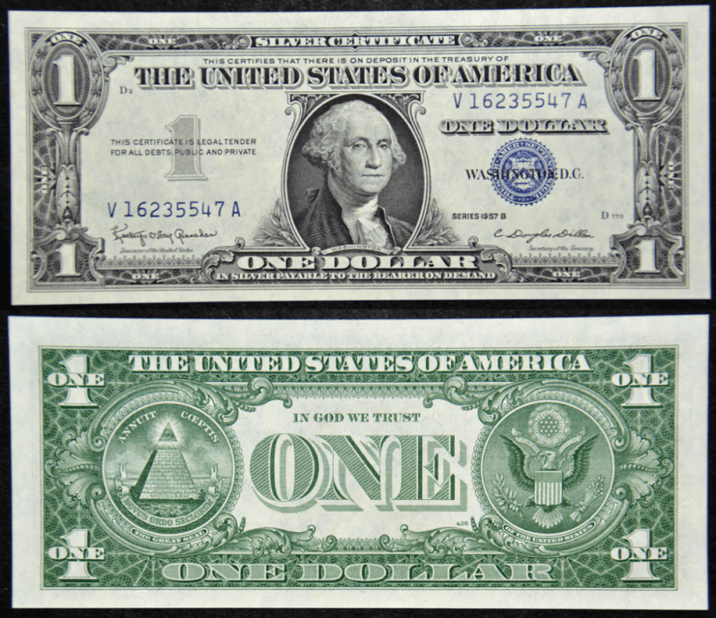 United States 1 Dollar Banknote, 1957, P-419b