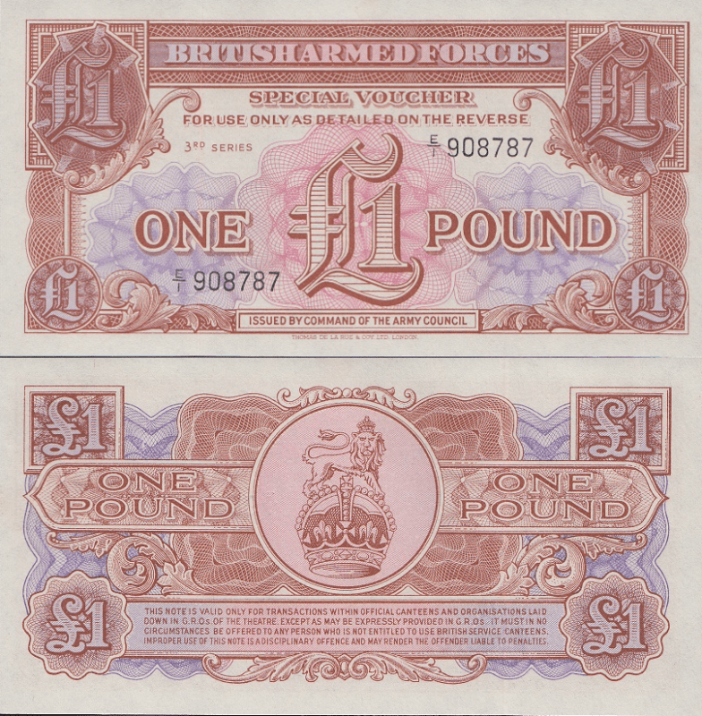 Great Britain/England 1 Pound Banknote, 1956, P-M29