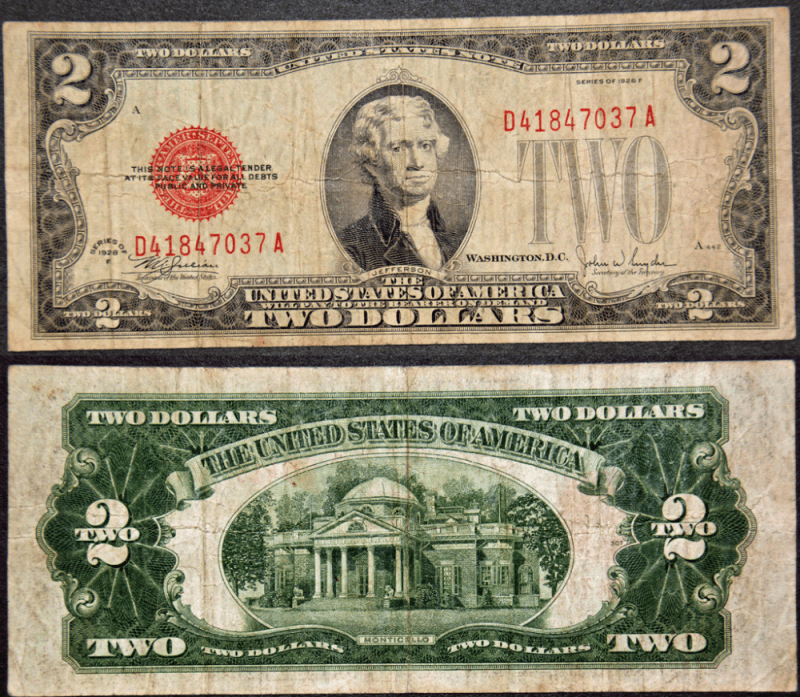 United States 2 Dollars Banknote, 1928, P-378f