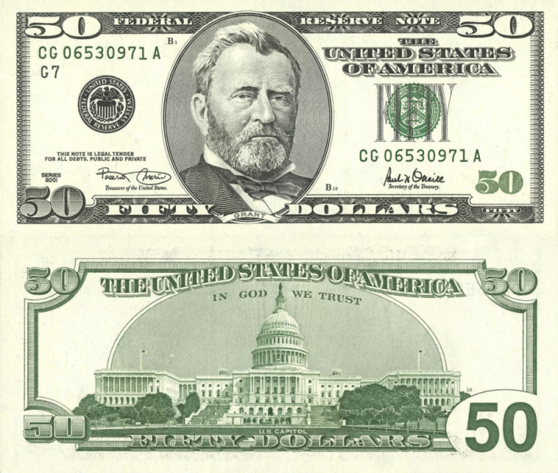 United States 50 Dollars Banknote, 2001, P-513