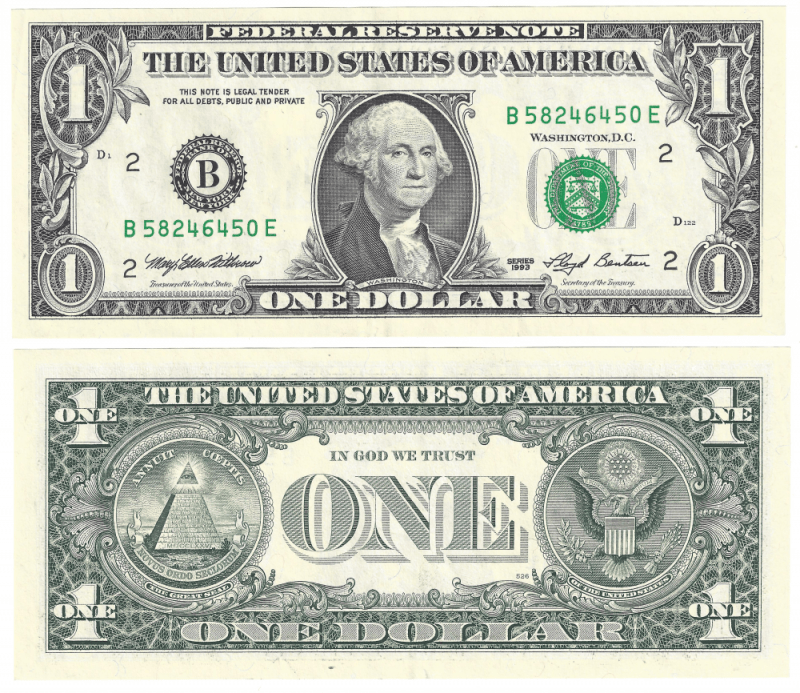 United States 1 Dollar Banknote, 1993, P-490a