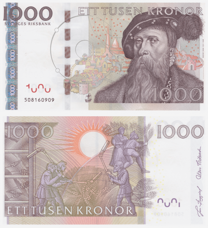 Sweden 1,000 Kronor Banknote, 2005, P-67