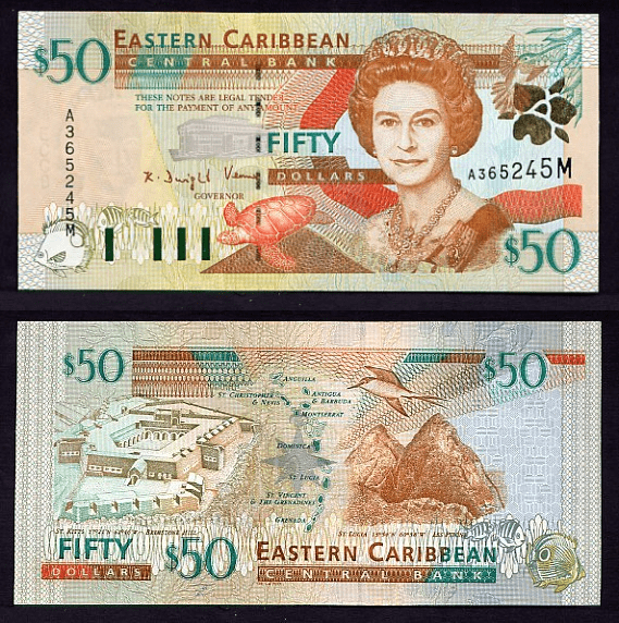 East Caribbean States 50 Dollars Banknote, 2000, P-40m
