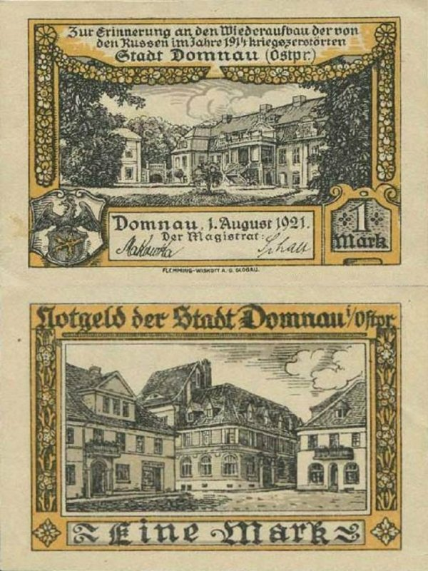 Germany/Notgeld 1 Mark Banknote, 1921, P-Gra:0280.1-4/4