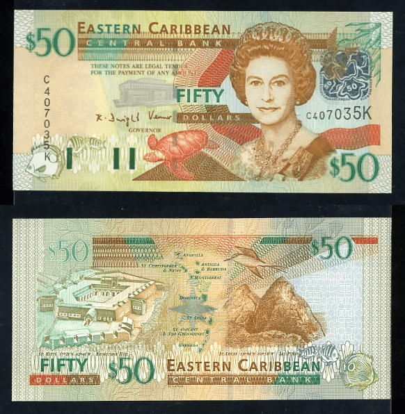 East Caribbean States 50 Dollars Banknote, 2003, P-45k
