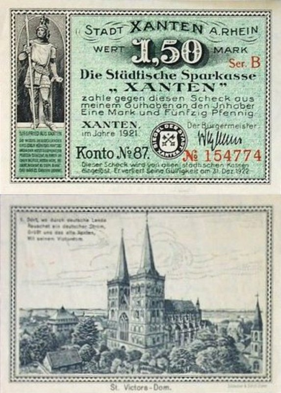 Germany/Notgeld 1.50 Mark Banknote, 1921, P-Gra:1465.1a-1/8