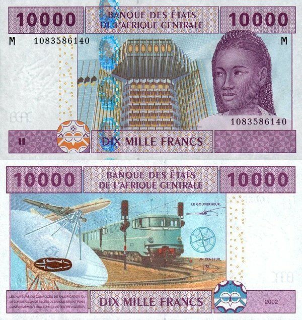 Central African States 10,000 Francs Banknote, 2002, P-310Mc