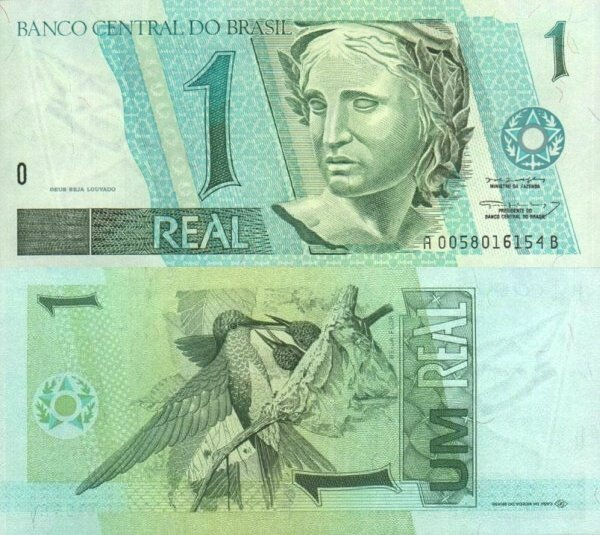 Brazil 1 Real Banknote, 1997, P-243Аa