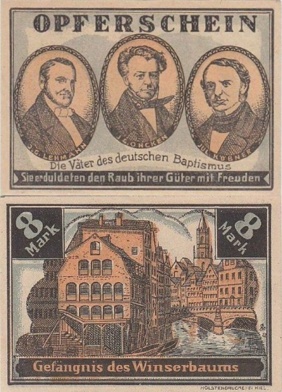 Germany/Notgeld 8 Mark Banknote, 1922, P-Gra:0516.1-2/5