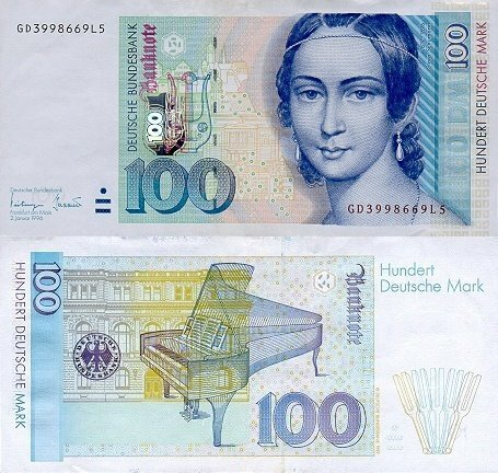 100 Deutsche Mark Germany/Federal Republic's Banknote