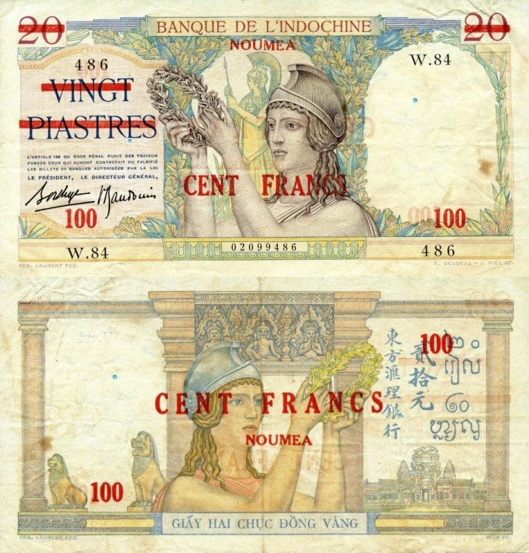 100 Francs New Caledonia's Banknote