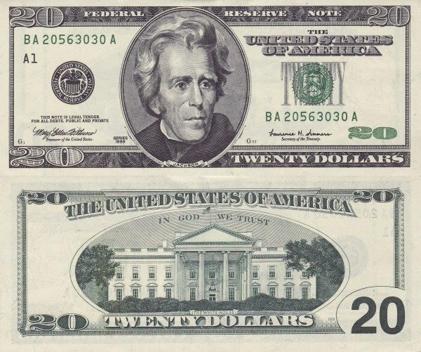 United States 20 Dollars Banknote, 1999, P-507