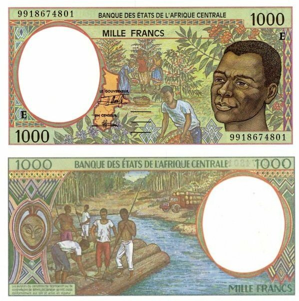 Central African States 1,000 Francs Banknote, 1999, P-202Ef