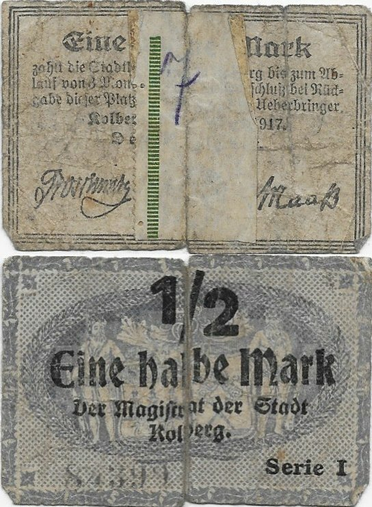 Germany/Notgeld ½ Mark Banknote, 1917, P-Gra:K040.1c