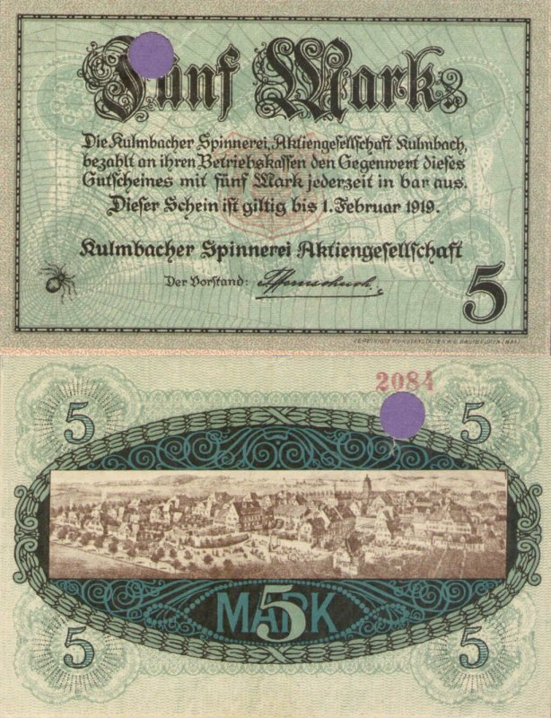 Germany/Notgeld 5 Mark Banknote, 1919, P-Gei:299.03
