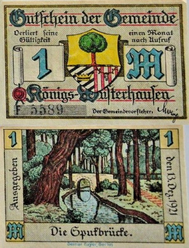 Germany/Notgeld 1 Mark Banknote, 1921, P-Gra:0732.2a-6/6