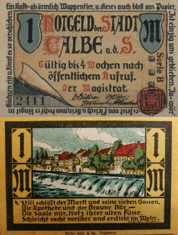 Germany/Notgeld 1 Mark Banknote, 1921, P-Gra:0213.1-4/4