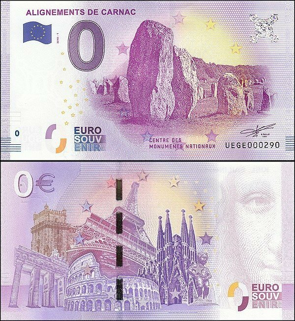 Fantasy Issues 0 France-Alignements de Carnac Banknote, 2018, P-FR-56-UEGE-2018-1