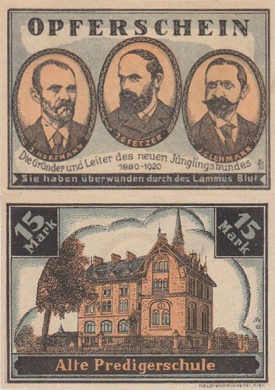 Germany/Notgeld 15 Mark Banknote, 1922, P-Gra:0516.1-5/5