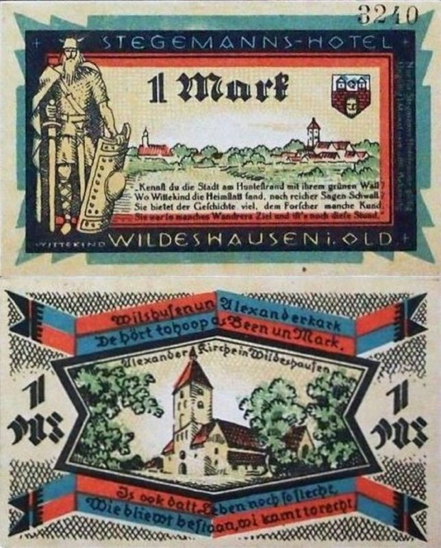 Germany/Notgeld 1 Mark Banknote, 1921, P-Gra:1427.1b-5/6