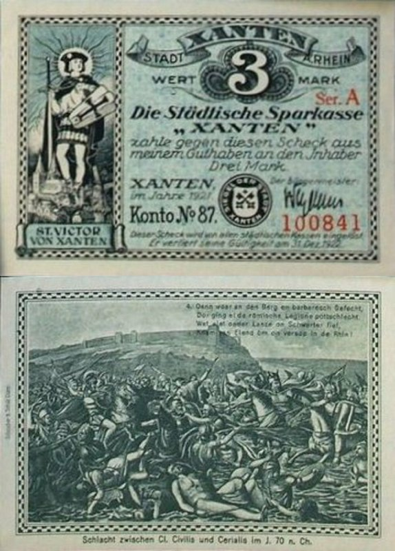 Germany/Notgeld 3 Mark Banknote, 1921, P-Gra:1465.1a-8/8