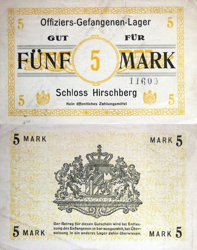 Germany/Notgeld 5 Mark Banknote, ND, P-Tie:HRSCH.05.02.2B